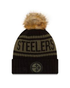 Pittsburgh Steelers New Era Women's Salute to Service (STS) 2021 Sideline Sport Knit Hat