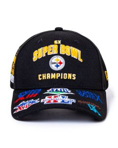Pittsburgh Steelers New Era 9FORTY 6-Time Super Bowl Champions Snap Tech Hat