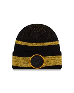 Pittsburgh Steelers New Era 2021 Sideline Tech Knit Hat
