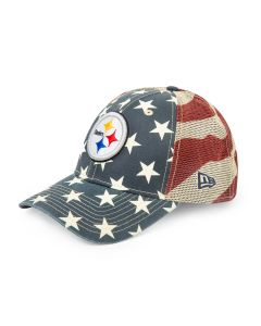 Pittsburgh Steelers New Era 9FORTY Stars and Stripes Tech Hat
