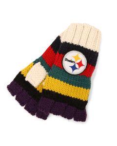 Pittsburgh Steelers Women's Touch Varsity Knit Fingerless Gloves