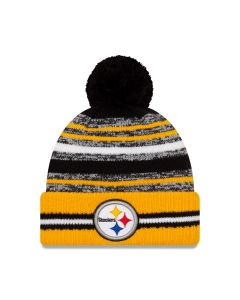 Pittsburgh Steelers Youth New Era 2021 Sideline Sport Home Knit Hat