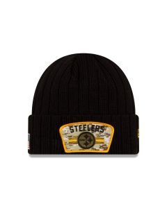 Pittsburgh Steelers New Era Salute to Service (STS) 2021 Sideline Knit Beanie