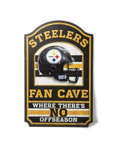Pittsburgh Steelers No Off Season Fan Cave Sign