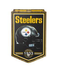 Pittsburgh Steelers Established 1933 Wood Sign