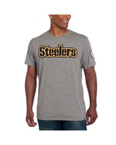 Pittsburgh Steelers '47 FIELDHOUSE Short Sleeve Grey T-Shirt