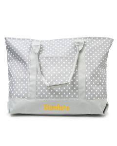 Pittsburgh Steelers Polka Dot Tote Bag
