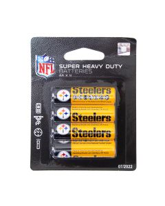Pittsburgh Steelers Super Heavy Duty AA Batteries - 4 pack