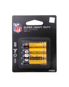 Pittsburgh Steelers Super Heavy Duty AAA Batteries - 4 pack