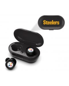 Pittsburgh Steelers True Wireless Earbuds w/ Charging Unit