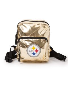 Pittsburgh Steelers Metallic Gold Mini Backpack