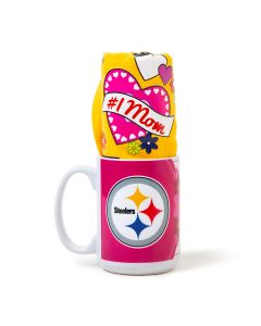 Pittsburgh Steelers #1 Mom Mug and Terrible Towel Mother's Day Combo