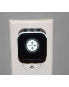 Pittsburgh Steelers LED Nightlight w/ USB Ports