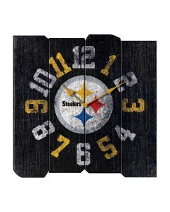 Pittsburgh Steelers Vintage Wood Square Clock