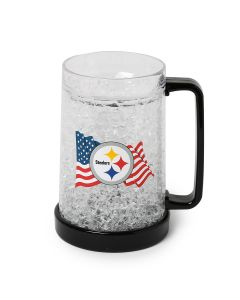Pittsburgh Steelers Flag and Logo Freezer Mug