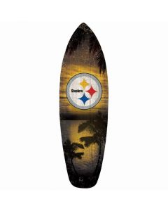 Pittsburgh Steelers Surfboard Wood Sign