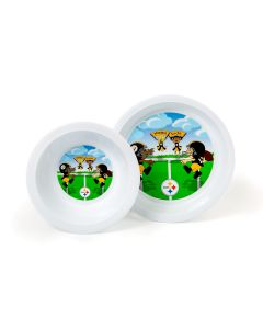 Pittsburgh Steelers Kids Plate & Bowl Set