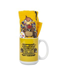 Pittsburgh Steelers Thanksgiving Mug and Terrible Towel Combo