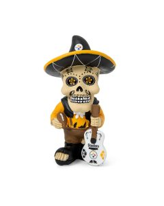 Pittsburgh Steelers Day of the Dead Skull Figurine