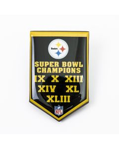 Pittsburgh Steelers 6-Time Super Bowl Champs Banner Magnet