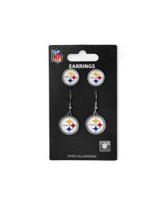Pittsburgh Steelers Stud and Dangler Logo Earrings