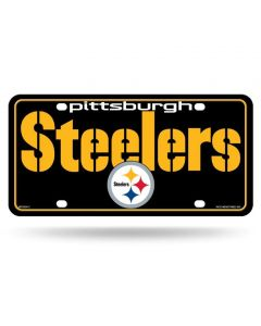 Pittsburgh Steelers City Name and Logo Metal License Plate