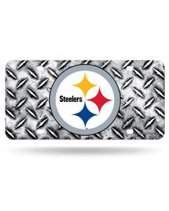Pittsburgh Steelers Logo Metal Grid License Plate