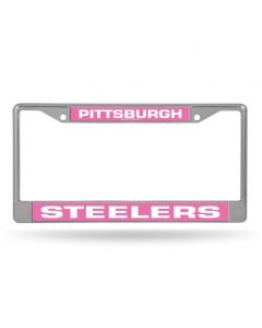 Pittsburgh Steelers Pink Chrome License Plate Frame
