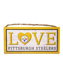 Pittsburgh Steelers Love Wood Sign