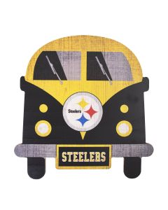 Pittsburgh Steelers Team Bus Wood Sign