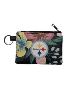 Pittsburgh Steelers Floral Coin Purse