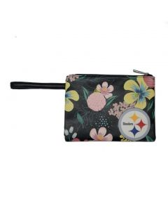 Pittsburgh Steelers Floral Wristlet