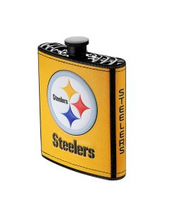 Pittsburgh Steelers Gold Hip Plastic Flask