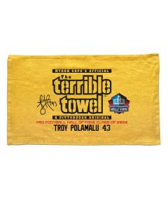 Pittsburgh Steelers Troy Polamalu Hall of Fame Terrible Towel