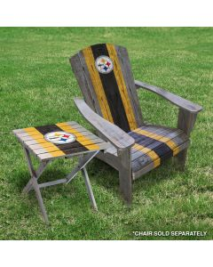 Pittsburgh Steelers Wooden Adirondack Folding Table