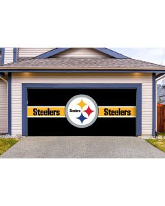 Pittsburgh Steelers Double Car Garage Door Cover