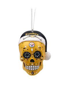 Pittsburgh Steelers Sugar Skull Holiday Ornament
