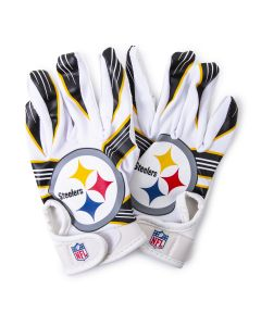 Pittsburgh Steelers Youth White Receiver Gloves