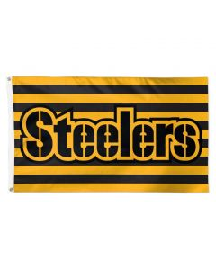 Pittsburgh Steelers Wordmark Stripes 3x5 Flag