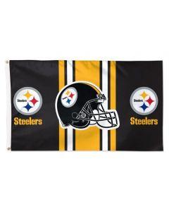 Pittsburgh Steelers Wordmark Helmet 3x5 Flag