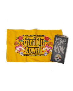 Pittsburgh Steelers Greatest Mom Sign and Mom Terrible Towel Combo