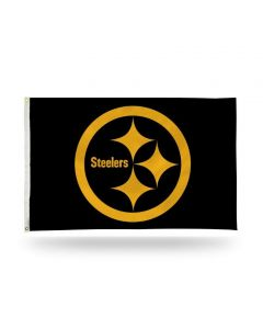 Pittsburgh Steelers 3' x 5' Black Color Rush Flag
