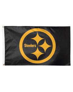 Pittsburgh Steelers Black Color Rush 3' x 5' Flag