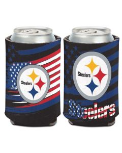 Pittsburgh Steelers Stars & Stripes 12oz. Can Coolie