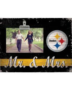 Pittsburgh Steelers Mr. & Mrs. 8x10 Clip Photo Frame