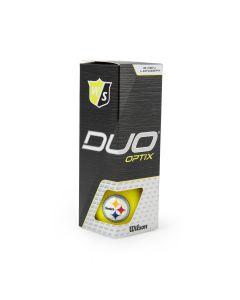 Pittsburgh Steelers Wilson Duo Optix Matte Yellow Golf Balls - 3 pack