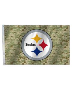 Pittsburgh Steelers 3' x 5' Premium Camo Flag