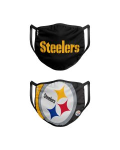 Pittsburgh Steelers Adult Face Coverings - 2 pack