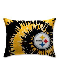 "Pittsburgh Steelers 20"" x 26"" Tie Dye Pillow"
