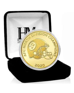 Pittsburgh Steelers Highland Mint 2020 AFC North Champions 24kt Gold Plated Coin